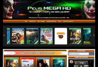 Website pelismegahd.pe desktop preview