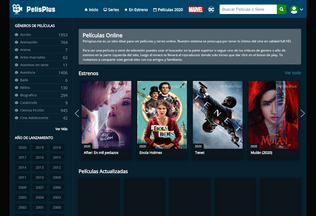 Website pelisplus.me desktop preview