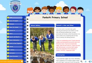 Website penkethprimary.co.uk desktop preview