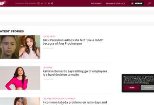 Website pep.ph desktop preview