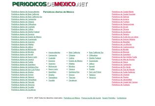 Website periodicosdemexico.net desktop preview