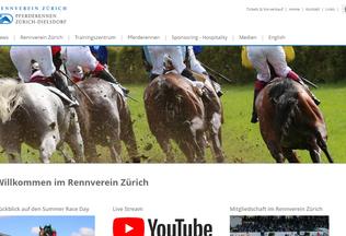Website pferderennen-zuerich.ch desktop preview