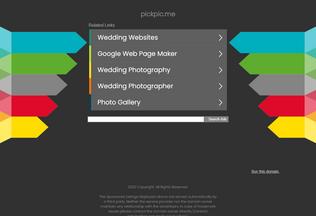 Website pickpic.me desktop preview