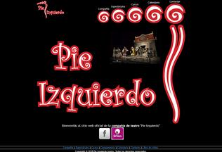 Website pieizquierdo.es desktop preview