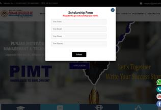 Website pimt.in desktop preview