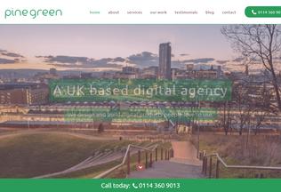 Website pinegreen.co.uk desktop preview