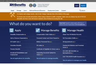 Website pint.ebenefits.va.gov desktop preview