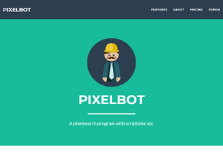 Website pixelbot.org desktop preview