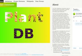 Website plantdatabases.org desktop preview