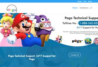 Website pogotechssupport.com desktop preview