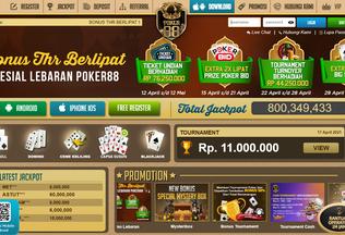 Website poker88asia.asia desktop preview