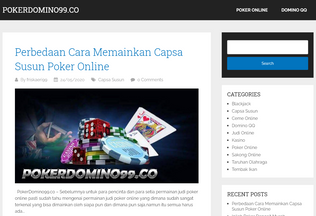 Website pokerdomino99.co desktop preview