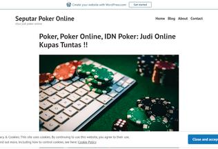 Website pokeronlineidnpoker88.wordpress.com desktop preview