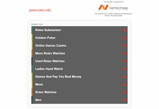 Website pokerrolex.info desktop preview