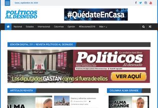 Website politicosaldesnudo.com.mx desktop preview