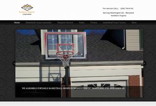 Website portablebasketballhoopassembly.com desktop preview