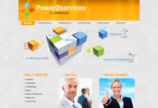Website power2services.se desktop preview