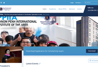 Website ppiia.edu.kh desktop preview