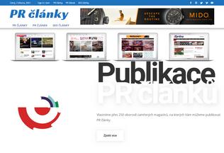 Website pr-clanky.net desktop preview