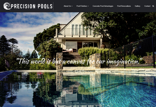 Website precisionpools.co.nz desktop preview
