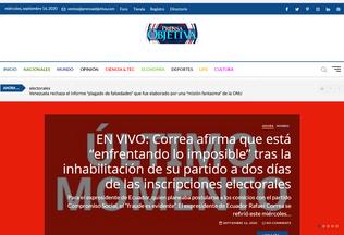 Website prensaobjetiva.com desktop preview