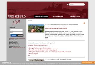Website pressebuero-lies.de desktop preview