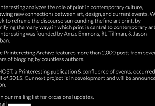 Website printeresting.org desktop preview