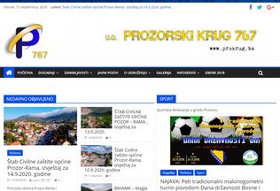Website prokrug.ba desktop preview