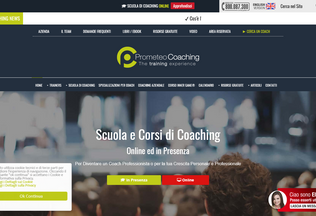 Website prometeocoaching.it desktop preview