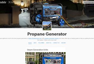 Website propanegenerator.tumblr.com desktop preview