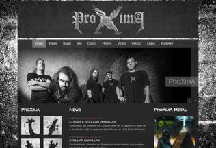 Website proximametal.ch desktop preview