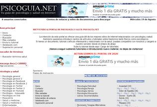 Website psicoguia.net desktop preview