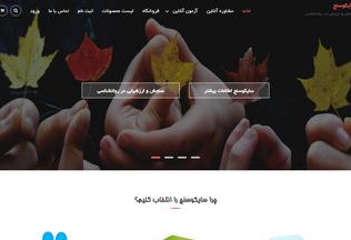 Website psychosanj.ir desktop preview