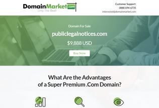 Website publiclegalnotices.com desktop preview