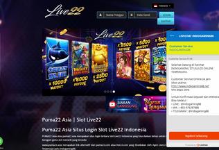Website puma22.asia desktop preview