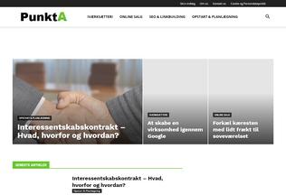 Website punkta.dk desktop preview