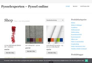 Website pysselexperten.se desktop preview