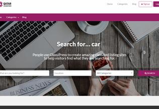 Website qatarclassifieds.info desktop preview