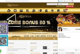 Website qqmulia123.com desktop preview