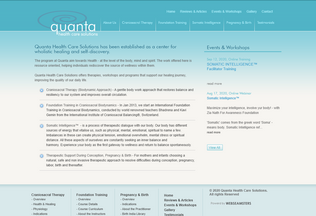 Website quantacare.org desktop preview