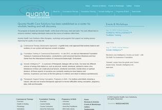 Website quantacare.org desktop preview
