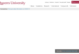Website queensu.ca desktop preview