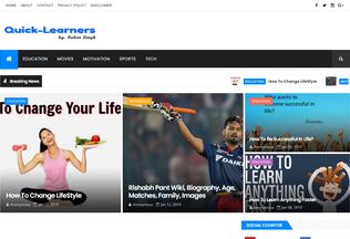 Website quick-learners.blogspot.com desktop preview