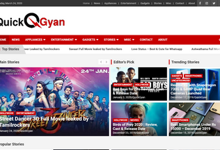 Website quickgyan.in desktop preview