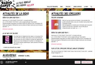 Website radiocanut.org desktop preview