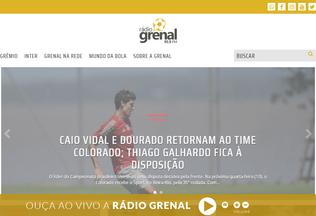 Website radiogrenal.com.br desktop preview