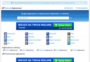 Website radomskoogloszenia.pl desktop preview