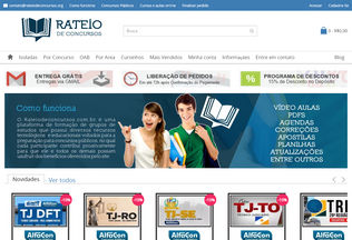 Website rateiodeconcursos.org desktop preview