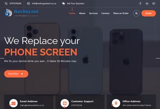 Website ravhuyanitech.co.za desktop preview