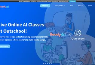 Website readyai.org desktop preview